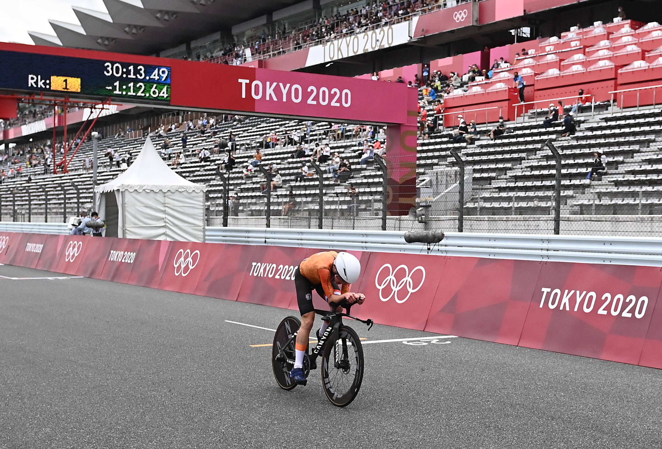 公路自行车——女子个人计时赛:荷兰选手夺冠