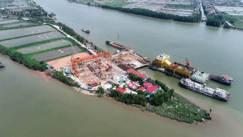 南中高速新进展!控制性工程横门西特大桥主墩桩基完工