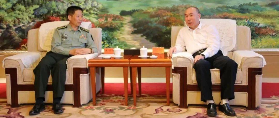代钦会见中国人民解放军63600部队保障部部长朱恒强一行
