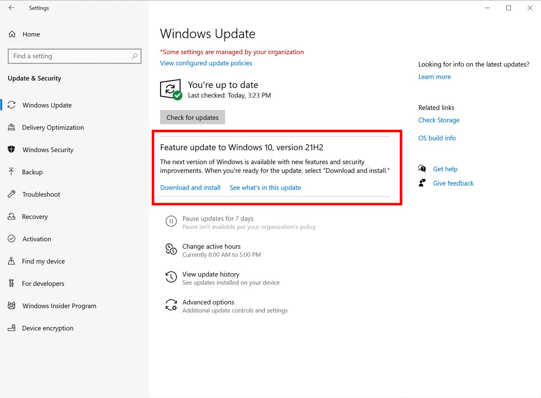 微软Win10 21H2正式版将是Build 19044.1288