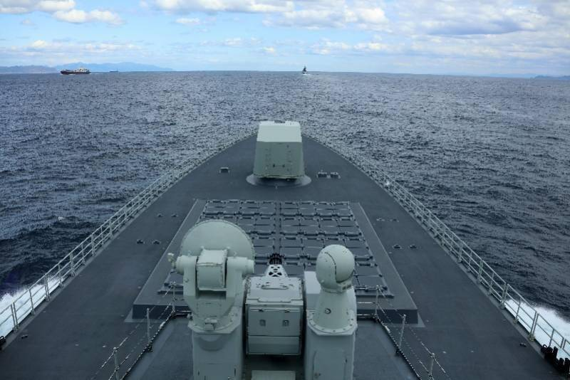 10艘舰艇6架舰载直升机,中俄首次海上联合巡航高清图来了