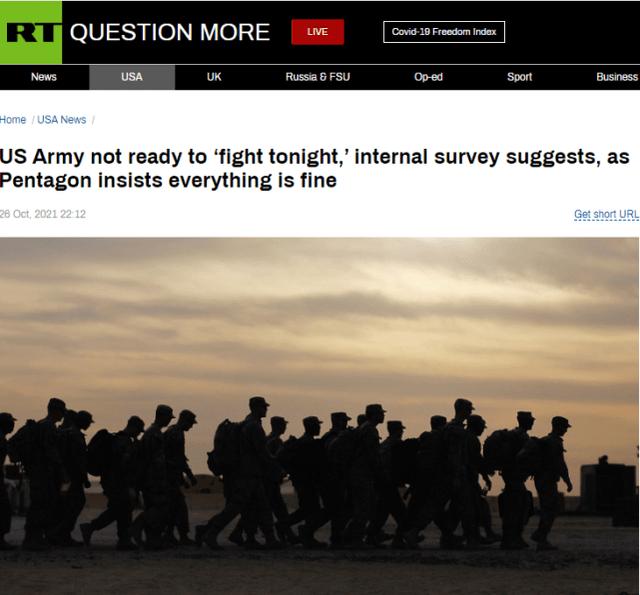 战备水平堪忧?美陆军调查结果:仅七分之一士兵准备好随时作战
